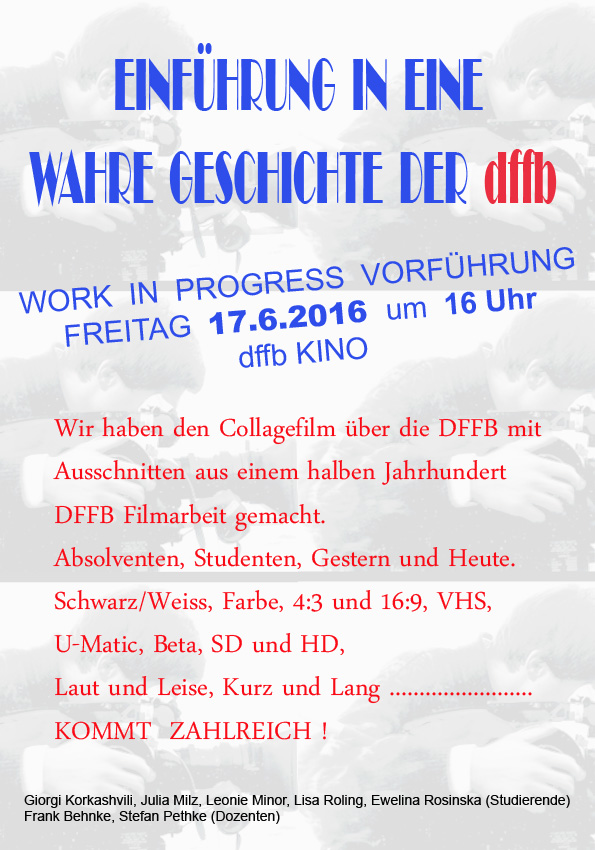 11 EINFUEHRUNG 5 Work in Progress 17 6 2016